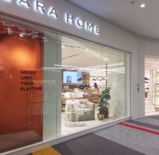 店外から撮影できる国内ZARA HOME初のフォトスペース