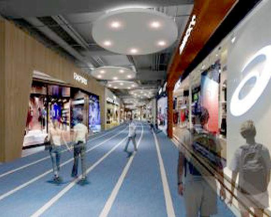 2階(既存フロア) スポーツゾーンのイメージ