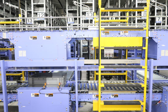 冷凍倉庫内の自動倉庫