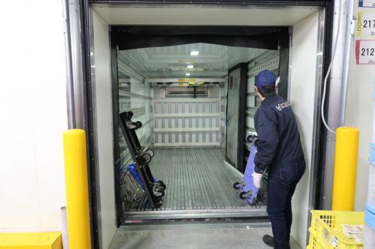 冷蔵の接車バース