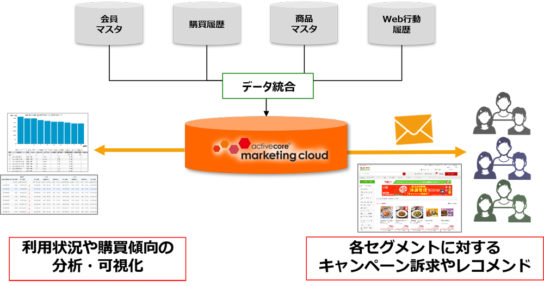 activecore marketing cloud活用イメージ