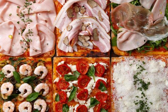 常時6種類のピッツァを品揃え