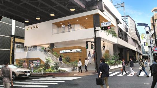 東側入口のリニューアルイメージ