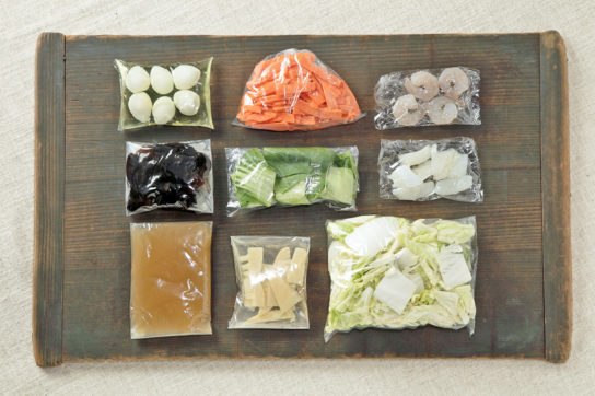 ミールキットの一例(旨みが効いた海鮮八宝菜キット)