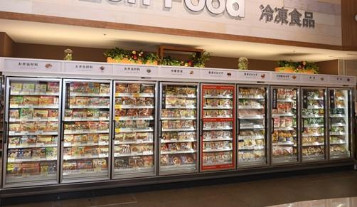 冷凍食品は改装前の約2倍に拡大