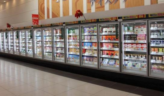 食料品売場のショーケースは省エネ対応