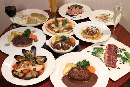 ハンバーグ、カレーなど王道の洋食