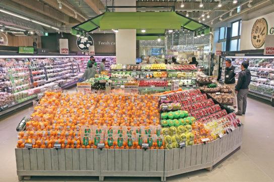 スーパーマーケットの売場(イメージカット)