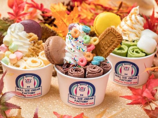 クルクルと巻いて作る「ロールアイスクリーム」