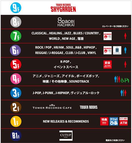 「タワーレコード渋谷店」をリニューアル