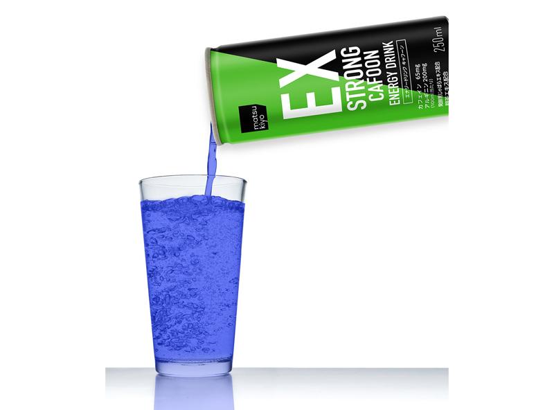 マツキヨ/人気のエナジードリンクに液色がスカイブルーの限定商品