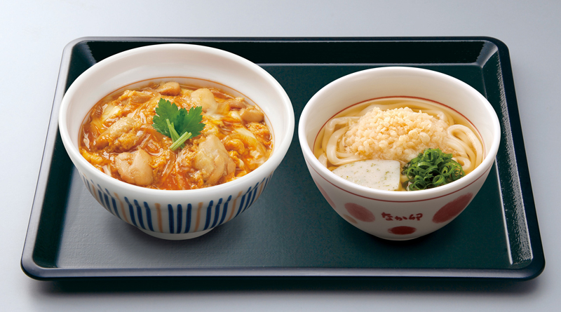 20190117nakau - なか卯/創業50周年記念「親子丼+小うどんはいから」100円引で販売