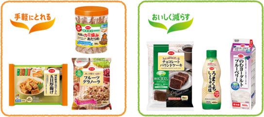 健康配慮商品のロゴを一新