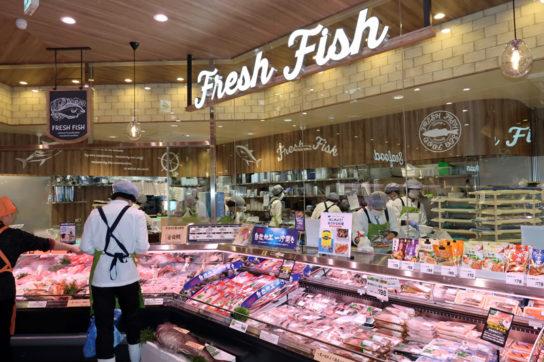 鮮魚の対面販売