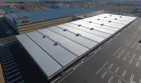 SUPER CENTER PLANT 高島店の屋根