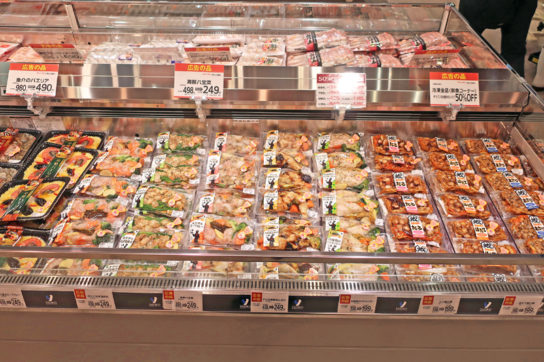 鮮魚売場のミールキット