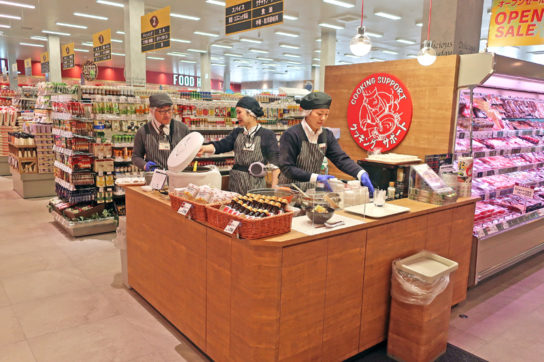 クッキングサポートコーナーを生鮮食品売場に設置
