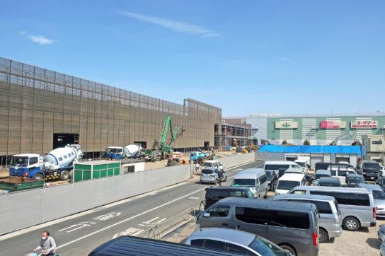建設中の大規模小売店舗(イメージカット)