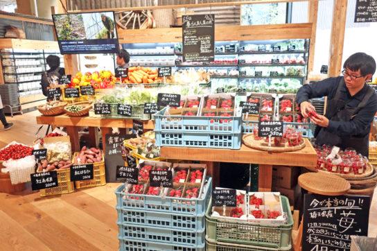 野菜売場のディスプレイ