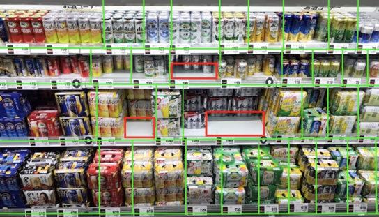 商品の欠品などの棚の状況をリアルタイムで把握できる