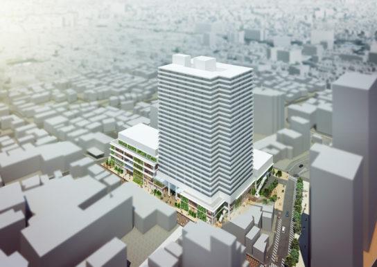 川口栄町3丁目銀座地区第一種市街地再開発事業、完成イメージ