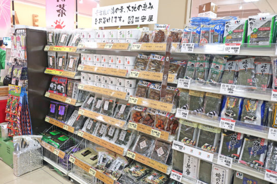 地元商品を各売場で訴求