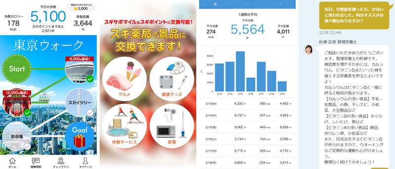 20190424sugi1 - スギ薬局/1か月半で歩数記録アプリ「スギサポwalk」10万ダウンロード突破