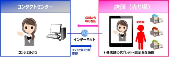 DNP遠隔接客支援サービスの全体イメージ