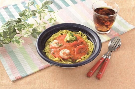 トマトクリームと海老のパスタ