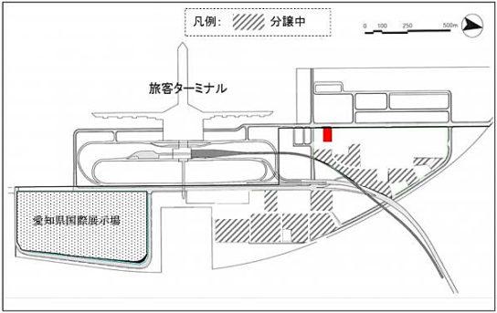 中部臨空都市空港島位置図