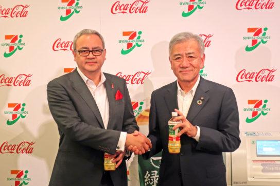 ガルドゥニョ社長(左)と井阪社長(右)