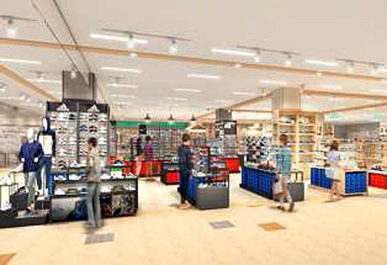 備後地区最大級の靴売場