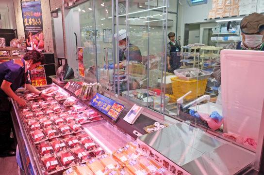 鮮魚売場の受注口