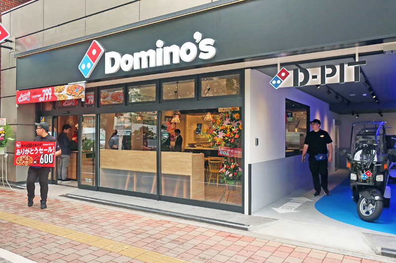 20190702domino 1 - ドミノ・ピザ/国内600店目「銀座店」に新コンセプト「D-PIT」導入