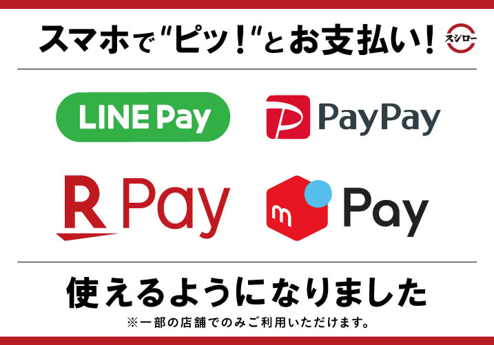 「paypay」「楽天ペイ」「メルペイ」導入開始