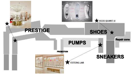 婦人靴売場を7年ぶりに刷新
