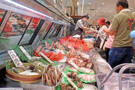 鮮魚の対面コーナー