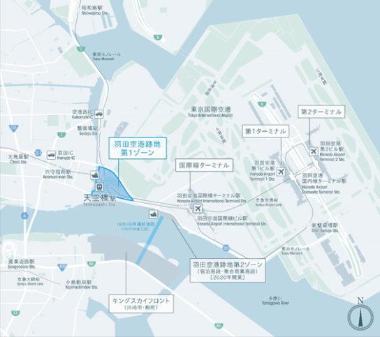 20190820haneda3 544x483 - 羽田空港/飲食・ラボ・会議場などの複合施設、2020年夏開業