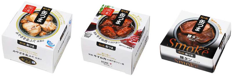 国分/K&K缶つま14品一新「相性の良い酒」表示