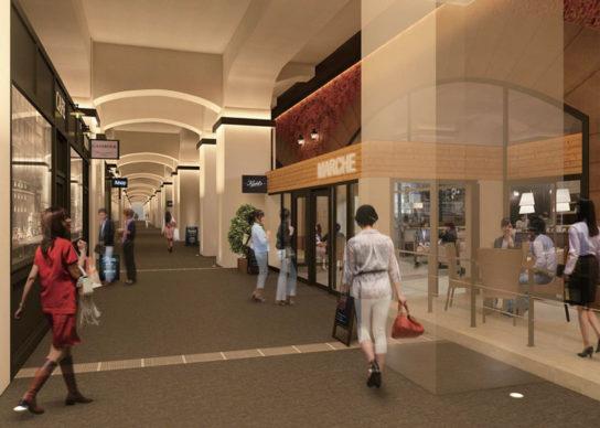 回遊性のある商業空間を新設