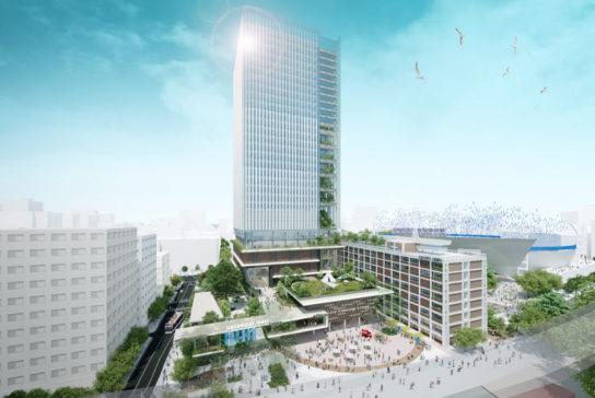 市庁舎を複合施設に再開発