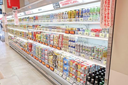 ビール類・缶チューハイ売場