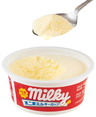 アイスの中心にも同じれん乳を充填