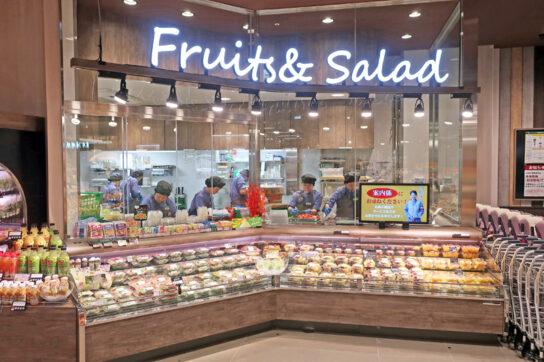 フレッシュサラダ&カットフルーツコーナー