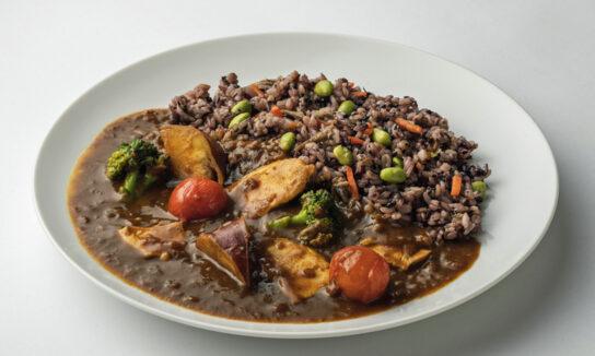 彩り野菜と十六穀米のカレー