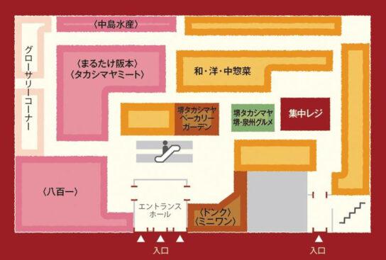 高島屋堺店1階食料品フロア