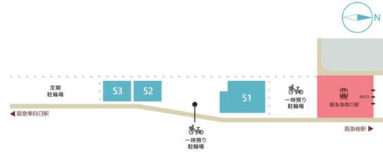 エリアの区画図