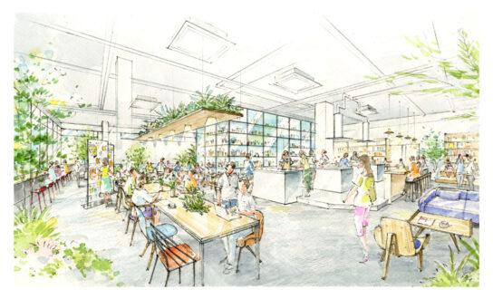 4階食のコワーキングスペース (イメージ)