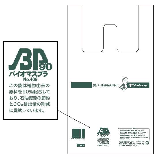 バイオマスプラスチック製レジ袋