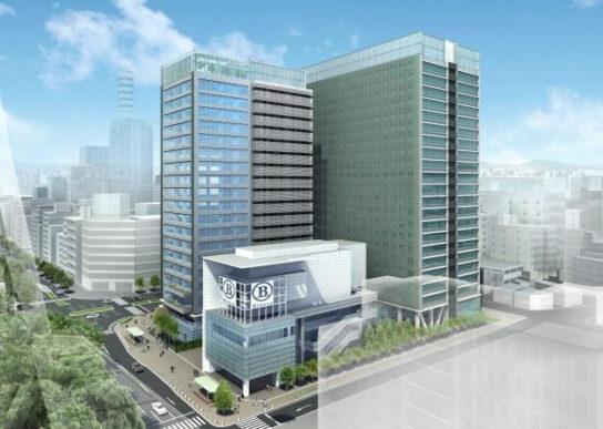 アーバンネット名古屋ビル、商業施設Blossaと一体的に整備